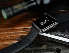 Cuerpo De Metal Negro De Pantalla Táctil Reloj Inteligente Teléfono Móvil Micro SIM Corona de control