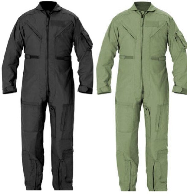 08e20001c61 FLIGHTSUIT PILOT US NAVY AIR FORCE STYLE COVERALLS ALL COLORS SIZE XS TO 3XL