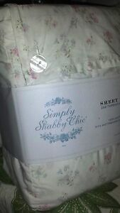 Simply-Shabby-Chic-Rachel-Ashwell-size-Sheet-Set-Cotton-Candy-floral-pink-blue