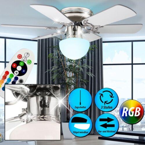 LED Decken Ventilator Lüfter Raum Kühler RGB Leuchte mit FERNBEDIENUNG DIMMBAR