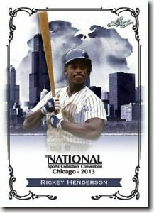 RICKEY-HENDERSON-2013-LEAF-NATIONAL-EXCLUSIVE-COLLECTORS-PROMO-CARD