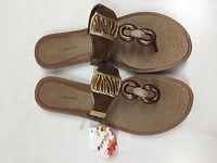 Grendha Golden Thong Womens Flip Flops - Bronze, Size 9