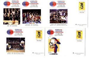 Sobres-Entero-Postales-FCBARCELONA-1899-1999-Centenario