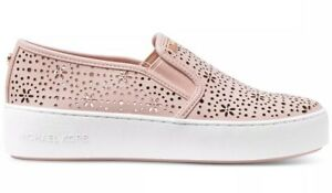 5d2cc6f48271 New Michael Kors Trent Slip on platform Sneakers Floral Perforated ...