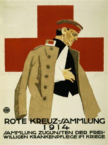 ADVERTISING CHARITY RED CROSS VOLUNTEER NURSES WAR WWI GERMANY POSTER LV584