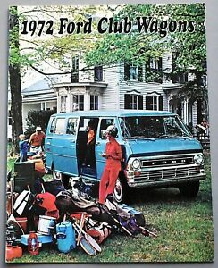 ORIGINAL-1972-FORD-CLUB-WAGONS-PASSENGER-VAN-SALES-BROCHURE-8-PAGES-72FCW