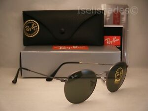 6df228d8e6a Ray Ban ROUND METAL (RB3447-29 50) Matte Gunmetal with Crystal Green ...
