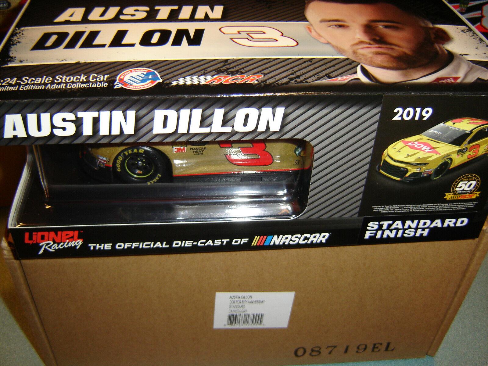 Lionel Racing Austin Dillon 2019 RCR 50th Anniversary Dow NASCAR Diecast Car 1:64 Scale