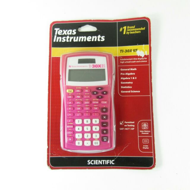 Texas Instruments TI-30X IIS 2-Line Scientific Calculator - Pink