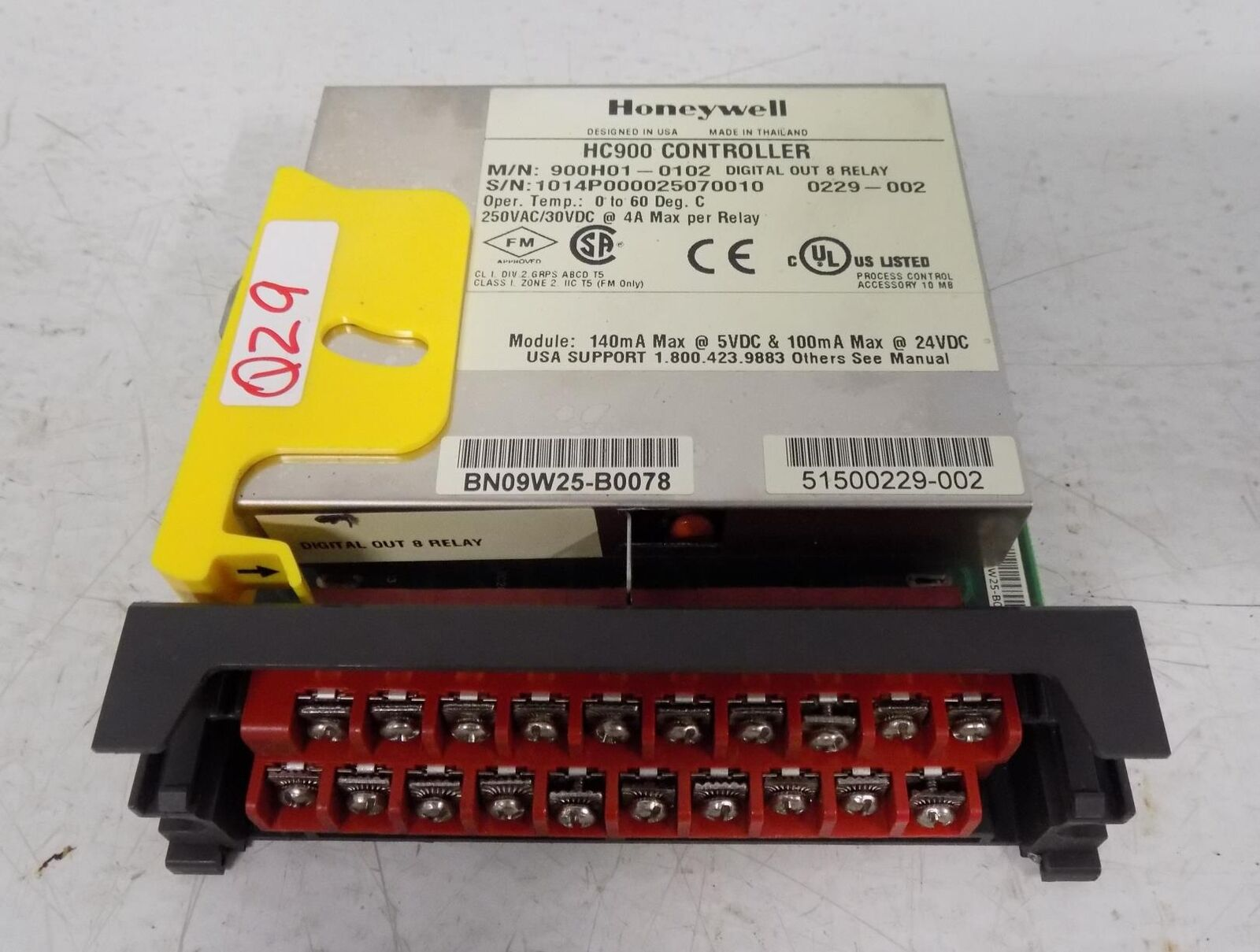 HONEYWELL HC900 CONTROLLER 900H01-0102 MISSING DOOR