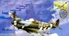 """2000 """"Their Finest Hour"""" Spitfire Cover - Signed BILL REID VC & ACM PETER SQUIRE"""