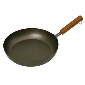 NEW-Pure-Titanium-Wood-Handle-Frying-Pan-28cm-AHLJ828-Japan-Import-With-Tracking