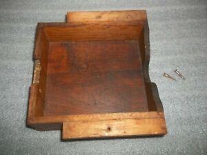 Antique WHEELER WILSON Treadle Sewing Machine Cabinet Drawer Curved Brass Pulls
