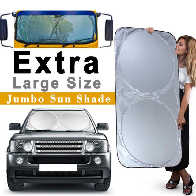 Silver L, Black Car Front Windshield Shades Block UV Ray Sun Visor Protector Sun Reflector Car Big or Small Truck Car Sun Shade Windscreen Sunshade Flexible Size for SUV
