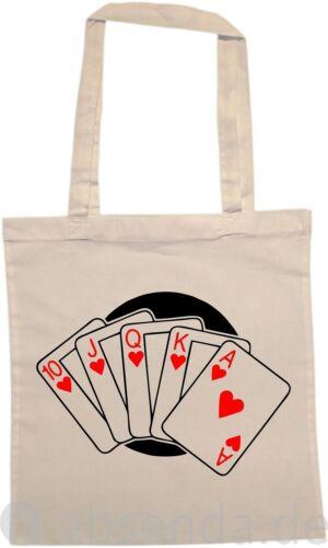 Flush Poker Karten Skat Hand Royal Straße Tasche Baumwolle Stoff Trage Einkaufs