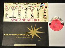 SESAC LP The Don Janse Chorale Sesac 1904 Sing And Rejoice Vol. 2