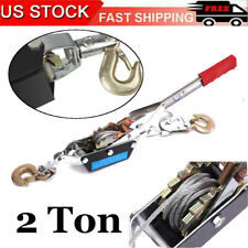 2 Ton Hand Puller Heavy Duty Winch Pull Hoist Come Along Cable Lever With 2 Hooks