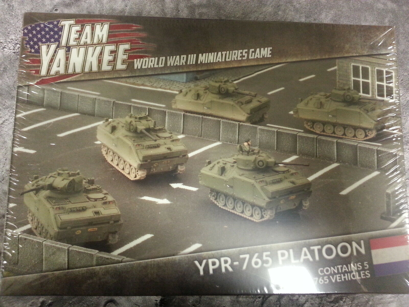 TEAM YANKEE NETHERLANDS YPR-765 PLATOON - 5 YPR-765 VEHICLES - NEW AND SEALED