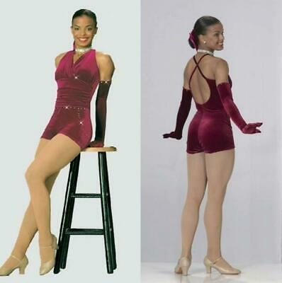 One For The Road Dance Costume Romper Biketard Tap Clearance Adult Medium//Small