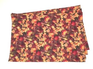 Autumn-Fall-Rust-Gold-green-red-yellow-Leaves-Set-of-4-rectangular-Placemats