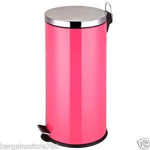 Détails sur 30 litre rose chaud stailess steel poubelle à pédale poubelle  recyclage cuisine 30 l- afficher le titre d\'origine