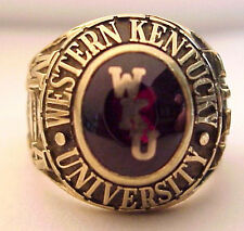2010 Western Kentucky University 10K Mans Class Ring, 22+g