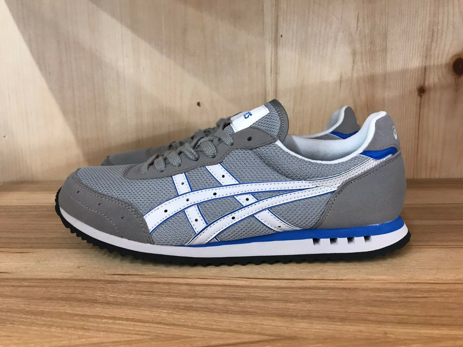 ASICS MATEO GREY WHITE blueE CASUAL RUNNING MENS  SZ 5-11  HQ80K-1101