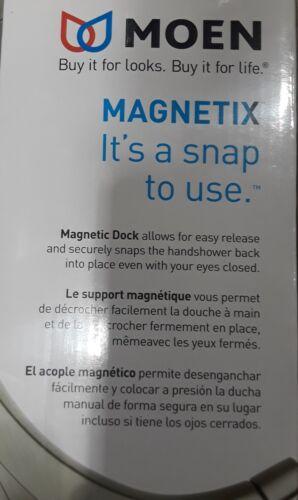 Moen Magnetix Brushed Nickel 6-Spray Handheld Shower Head /& Rainshower #26009SRN