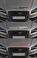 For CITROEN -  PERFORMANCE BONNET CHECKS -  CAR DECAL STICKER - DS3 - 600mm long