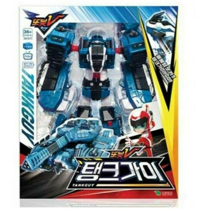 Sale TOBOT V Action Figures TANK GUY Transformer Kids Robot Car Hobbies Toy_vget