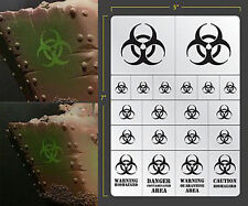 BIOHAZARD VINYL SELF ADHESIVE AIRBRUSH STENCIL FOR WARGAMING FALLOUT HOBBIES