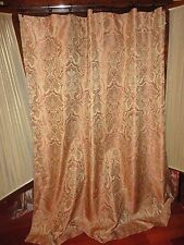 SPRINGMAID TERRACOTTA AQUA GOLD PAISLEY FABRIC SHOWER CURTAIN 69 X 70