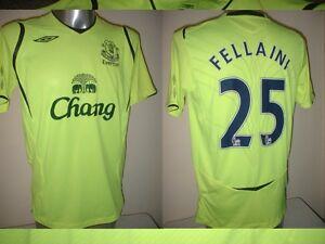 official photos 1b2a0 b4d75 Details about Everton FELLAINI Adult Medium Umbro Shirt Jersey Football  Soccer Belgium Yellow