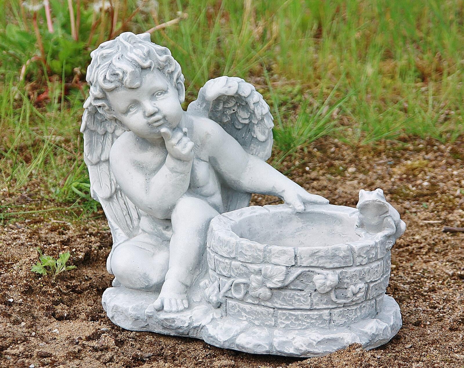 Fuente del Ángel ángel con la piedra de la rana casting Cocheácter de Festival de heladas las plantas PO-229