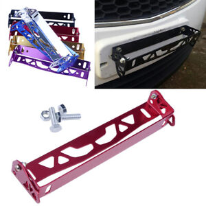 1xCar-Number-Plate-Surrounds-Holder-Licence-Plate-Frame-Cover-Metal-Red-Aluminum