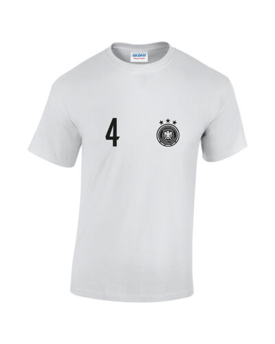 Germany 4 Mens Printed Cotton Football Style T-Shirt