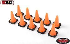 1/10 Scale TOY Traffic Cones Bollards ORANGE Rubber 10 RC4WD Z-S1658 RC Gates