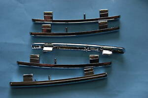 KIT-5-LISTELLI-PLASTICA-CROMATI-E-GOMMINO-GRIGLIA-FIAT-PANDA-1997-gt-2003