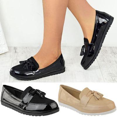 Black School Shoes Womens Ladies Girls