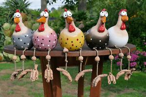 Keramikgartenterrassewetterfestvogelhuhngartenstecker