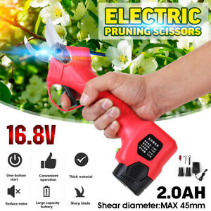 16-8V-Electric-Rechargeable-Cordless-Pruning-Shears-Secateur-45mm-Branch-Set