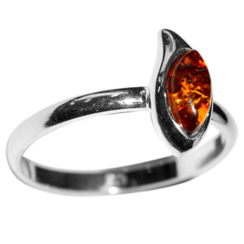 1.68 G Authentic BALTIC AMBER 925 Sterling Silver Ring Jewelry N-A7474