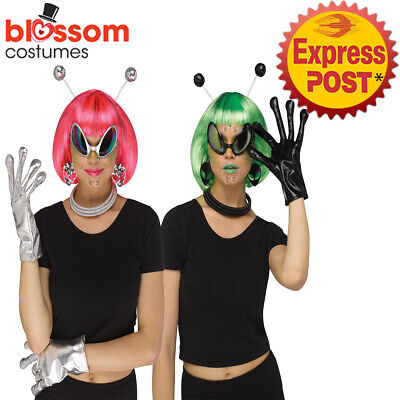 New Alien Glasses /& Headband Set Space Out Of This World Fancy Dress Accessories