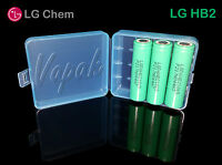 3 Lg Hb2 18650f High Drain 1500mah 30amp Rechargeable Battery / Blue Case