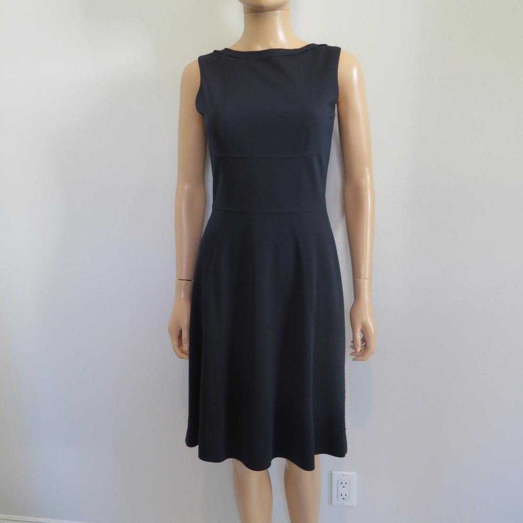 NWT Elie Tahari Navy Sleeveless Dress Größe 4