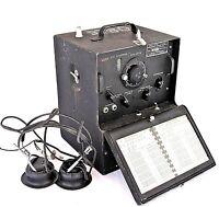 U.S. Army Signal Corps BC-221-N Frequency Meter WWII Radio Philco w/Headphones