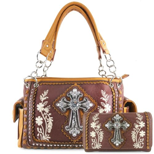 portemonnee borduurwerk handtas portemonnee westerse herfst dragen Floral Justin West verbergen sdxrthQC