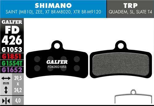 Galfer Disque Patins De Frein Shimano Zee MTB G1053 Nouveau FD426