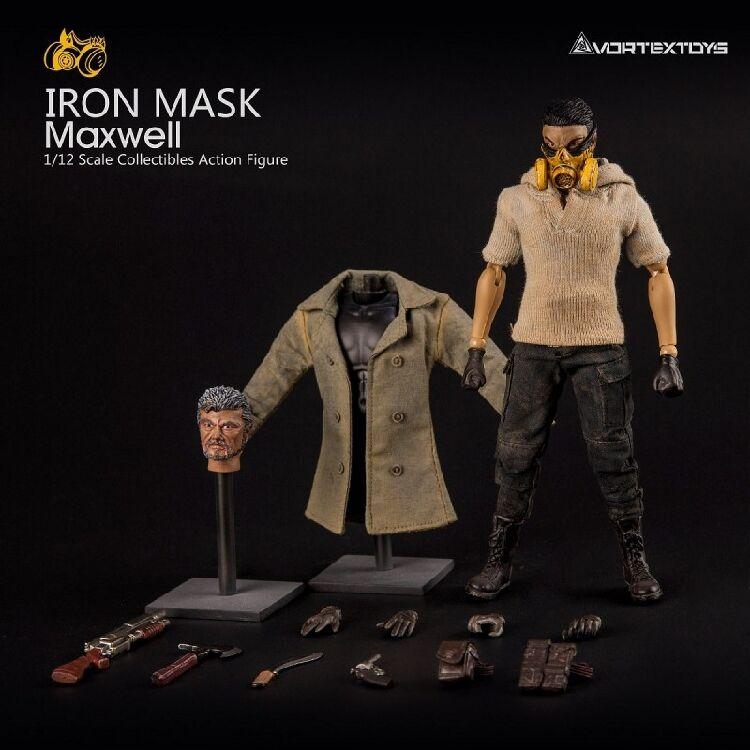 Vortex Juguetes 1 12 MásCochea de Hierro Max bien con dos esculpidos de cabeza figura de acción