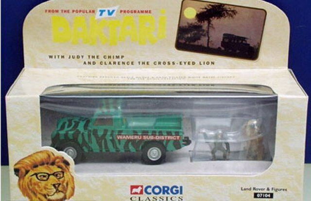 CORGI 07104 DAKTARI LAND ROVER diecast model & metal Judy & Clarence figures